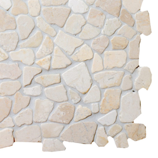 Mosaic White marble 300x300mm