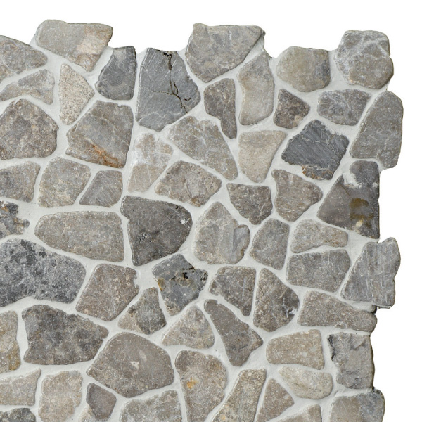 Mosaic Light Grey marble 300x300mm