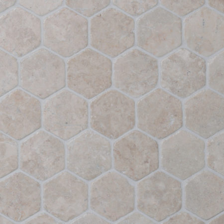 Hexagon White marble, 60x60mm