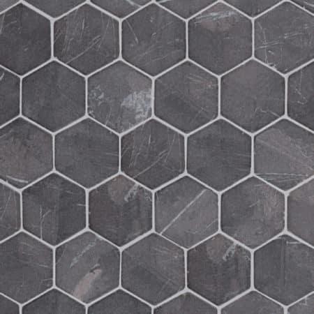 Hexagon Grey marble, 60x60mm