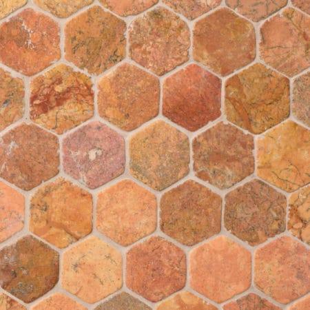 kuusnurkne Hexagon Terrakota marmor, 60x60mm
