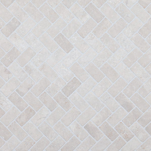 Herringbone White marble, 30x60mm
