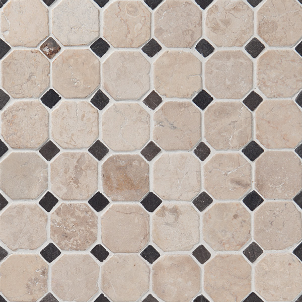 Classic Pattern White-Grey marble, 50x50mm