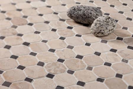 Klassikaline Muster Valge-Hall marmor, 50x50mm