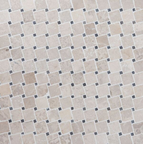 DIAGONAL WHITE-GREY 50x50mm