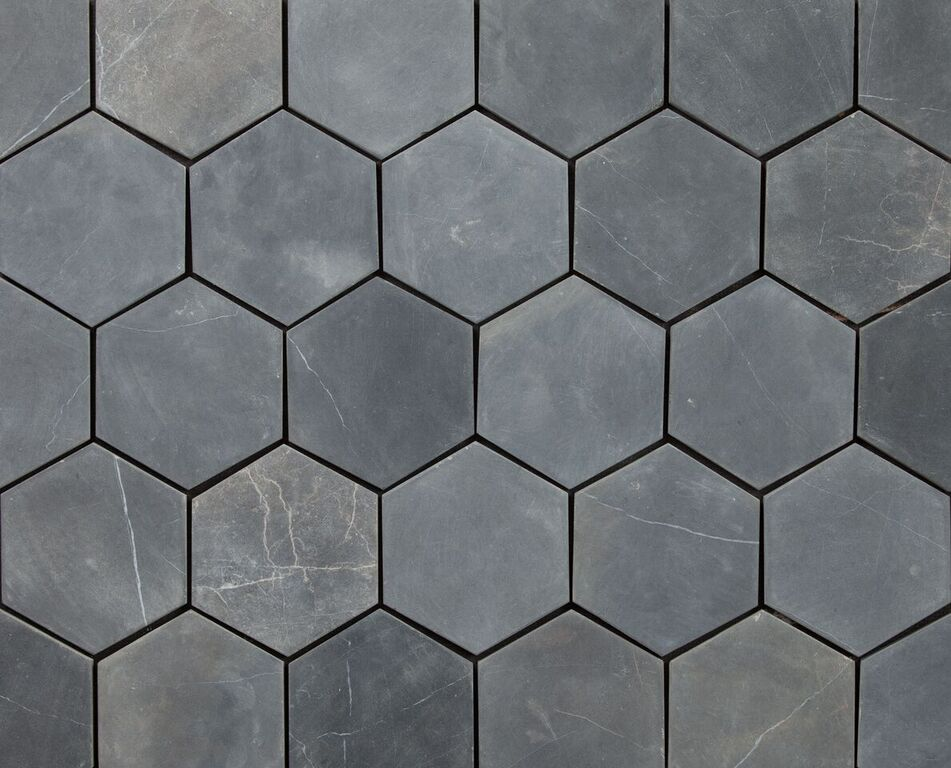 HEXAGON GREY 100x100mm