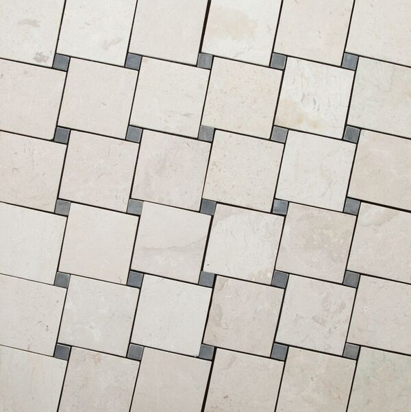 DIAGONAL WHITE-GREY 100x100mm
