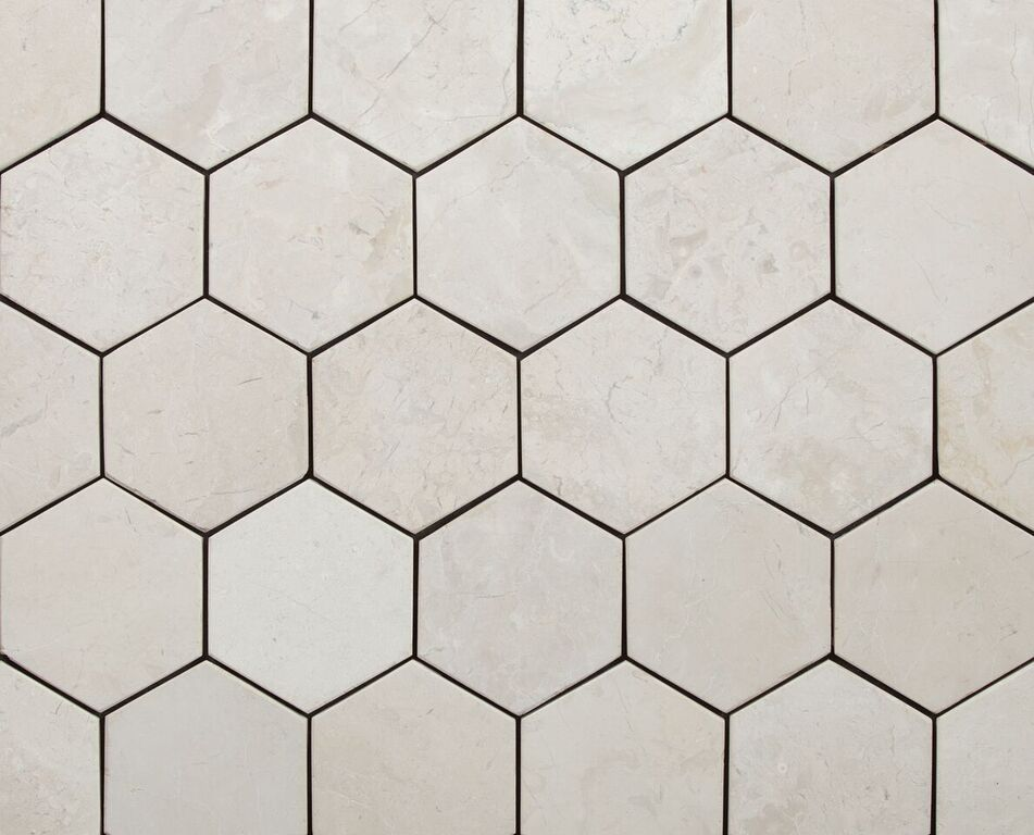 HEXAGON WHITE 100x100mm