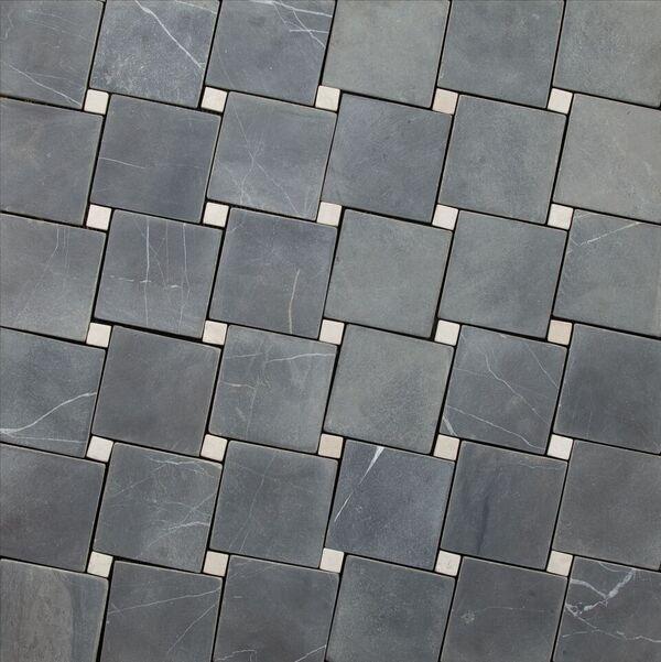 DIAGONAL GREY-WHITE 100x100mm